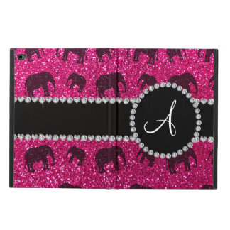 Monogram neon hot pink glitter elephants powis iPad air 2 case