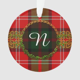 Monogram Nesbitt Tartan Ornament