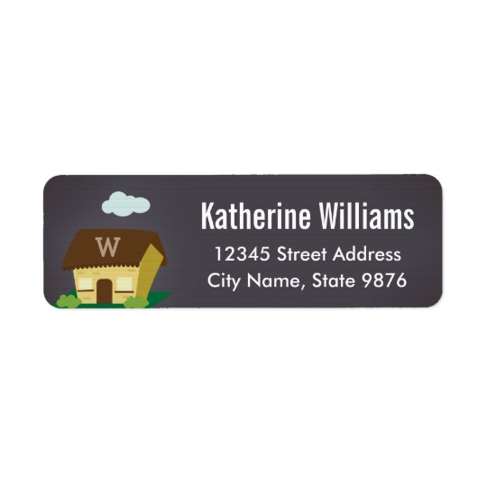 Monogram New Home Return Address Label