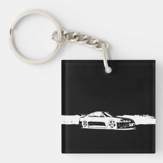 Monogram Nissan Silvia Double-Sided Square Acrylic Key Ring