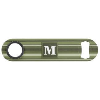 Monogram olive green stripes