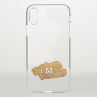 Monogram on Faux Gold Paint iPhone X Case