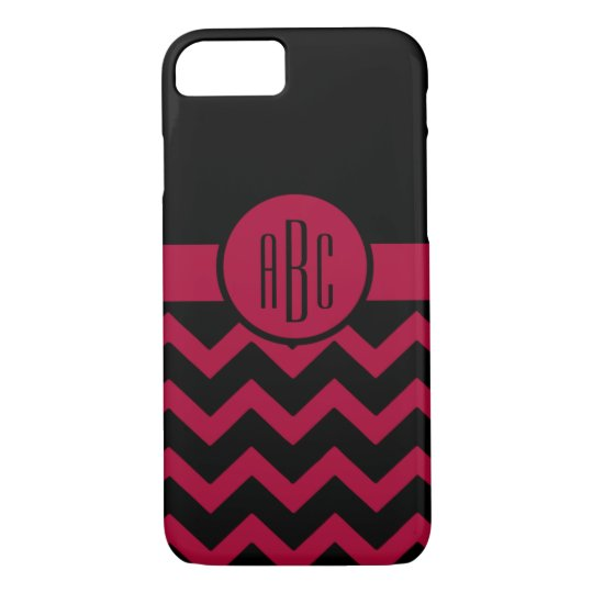 Monogram on Garnet and Black iPhone 8/7 Case