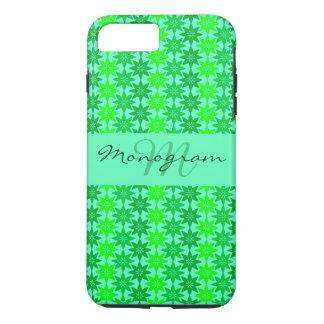 Monogram on Green Pattern iPhone 8 Plus/7 Plus Case