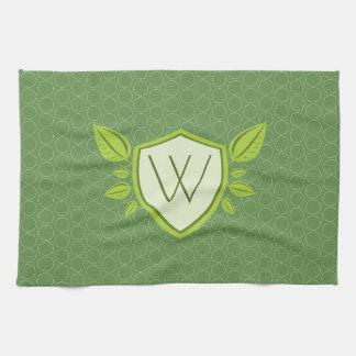 Monogram on Leaf Shield | Kitchen Towel