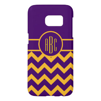 Monogram on Purple and Gold