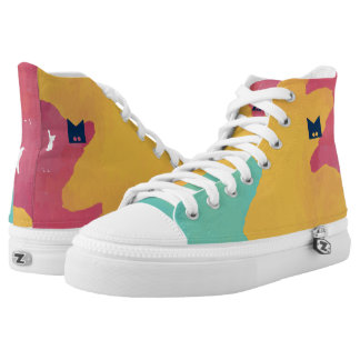 Monogram on Watercolor. High Tops