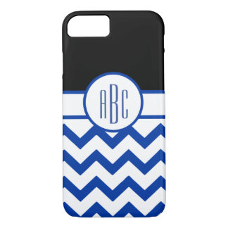 Monogram on White and Blue iPhone 8/7 Case