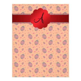 Monogram orange ladybugs hearts 21.5 cm x 28 cm flyer