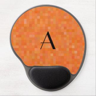Monogram orange mosaic squares gel mouse pad
