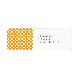 Monogram Orange White Trendy Fun Polka Dot Pattern