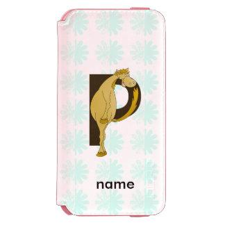 Monogram P Flexible Horse Personalised Incipio Watson™ iPhone 6 Wallet Case