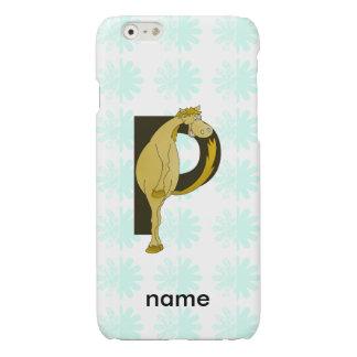 Monogram P Flexible Horse Personalised iPhone 6 Plus Case