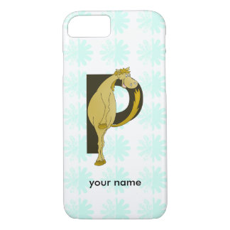 Monogram P Funny Pony Personalized iPhone 7 Case