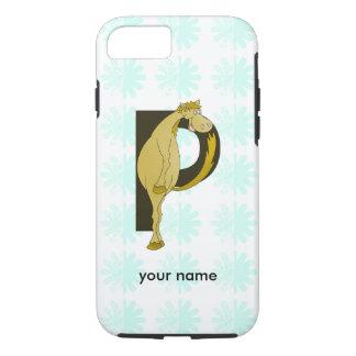 Monogram P Funny Pony Personalized iPhone 7 Case