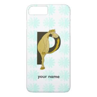 Monogram P Funny Pony Personalized iPhone 7 Plus Case