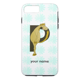Monogram P Funny Pony Personalized iPhone 7 Plus Case