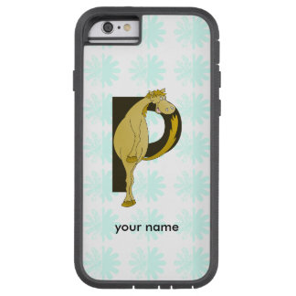 Monogram P Funny Pony Personalized Tough Xtreme iPhone 6 Case