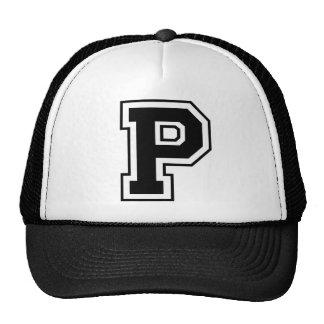 """Monogram """"P"""" Initial Cap"""