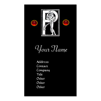 MONOGRAM P , RUBY PACK OF STANDARD BUSINESS CARDS