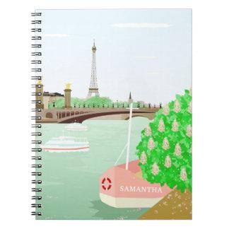 Monogram Paris Cityscape Notebook (80 Pages B&W)