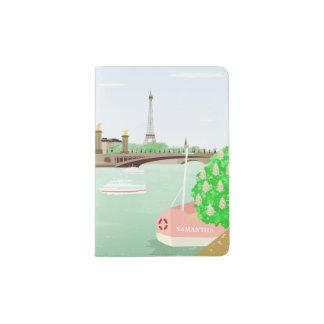Monogram Paris Eiffel Tower Spring Passport Holder