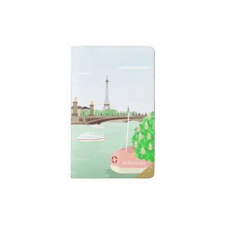 Monogram Paris Eiffel Tower Spring Pocket Notebook