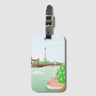 Monogram Paris Luggage Tag w/ Business Card Slot