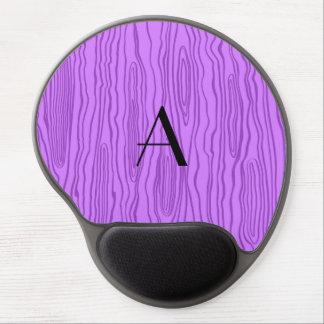 Monogram pastel purple faux bois gel mouse pad