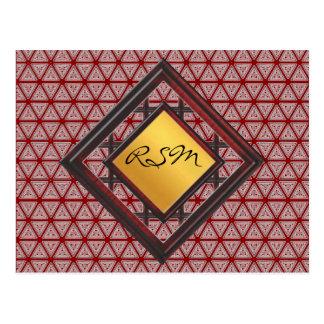 Monogram  pattern postcard