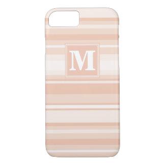Monogram peach stripes iPhone 7 case