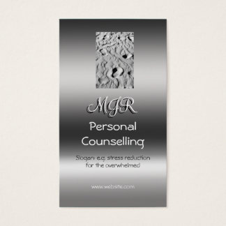 Monogram, Personal Counsellor, metallic-effect Business Card
