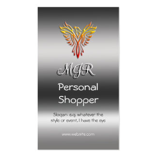 Monogram, Personal Shopper, metallic-effect Pack Of Standard Business Cards