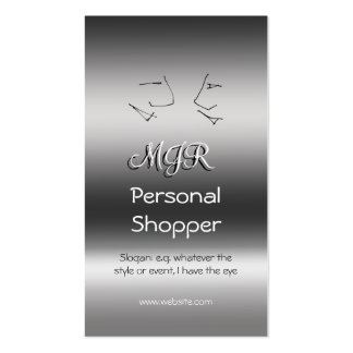 Monogram, Personal Shopper, Talking Heads Pack Of Standard Business Cards