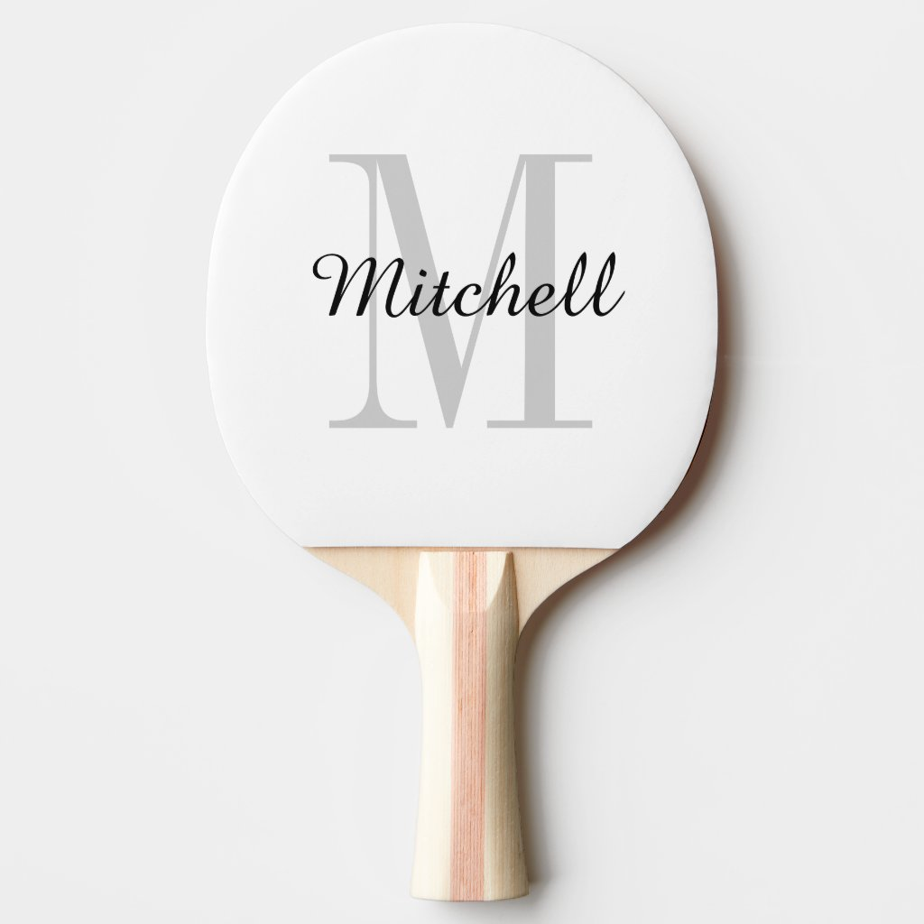 Monogram Personalised Ping Pong Paddle