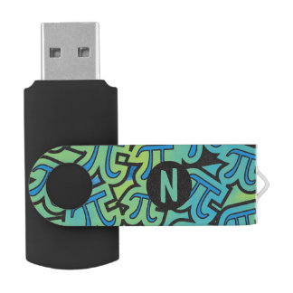 Monogram Pi Party Personalized Initial USB Flash Drive