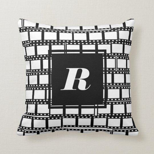 Monogram Pillow for Movie Lovers