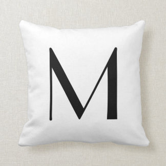 Monogram Pillows Letter M
