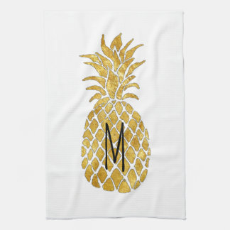 monogram pineapple tea towel