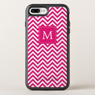 Monogram | Pink Chevron OtterBox Symmetry iPhone 8 Plus/7 Plus Case