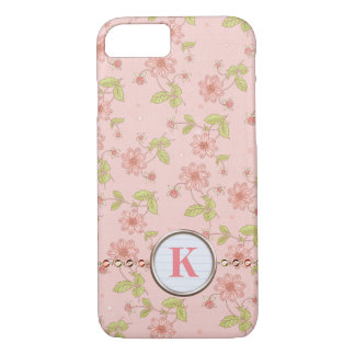 Monogram Pink Daisy iPhone 8/7 Case