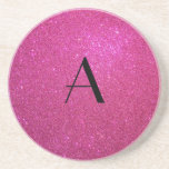 Monogram pink glitter