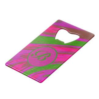 Monogram Pink Green Color Swish