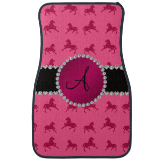 Monogram pink horse pattern car mat