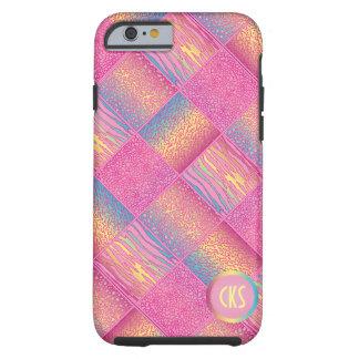 Monogram Pink Jungle Animal Patterns Tough iPhone 6 Case
