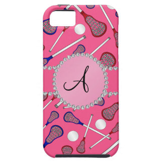 Monogram pink lacrosse pattern tough iPhone 5 case