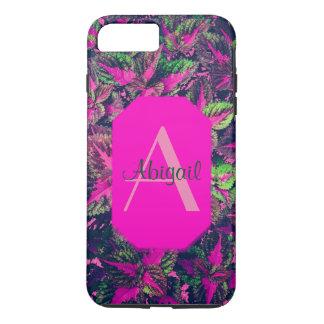 Monogram - Pink Leaf Camo iPhone 8 Plus/7 Plus Case