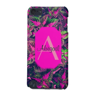 Monogram - Pink Leaf Camo iPod Touch (5th Generation) Cover