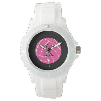 Monogram Pink Volleyball Wrist Watch