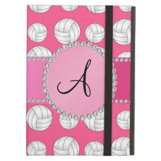 Monogram pink volleyballs pink circle iPad air cases